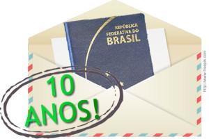 Passaporte Brasileiro via correio valerá 10 anos