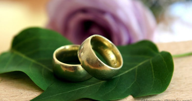 Alianças simbolizando o casamento, objetivo do visto K1
