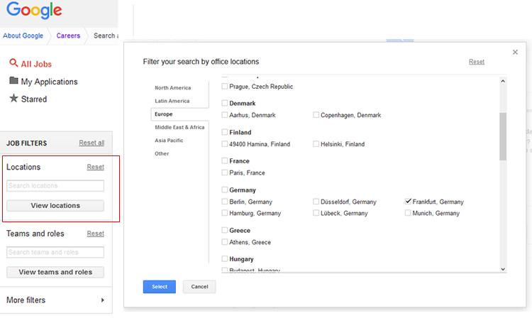 Google Careers: vagas disponíveis na Alemanha