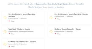 Resultado da pesquisa por emprego na Booking.com