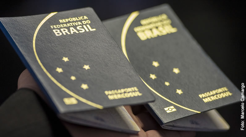 Capa do novo passaporte brasileiro