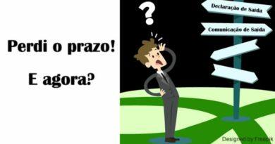 Comunicação de Saída Definitiva: situação hipotétic