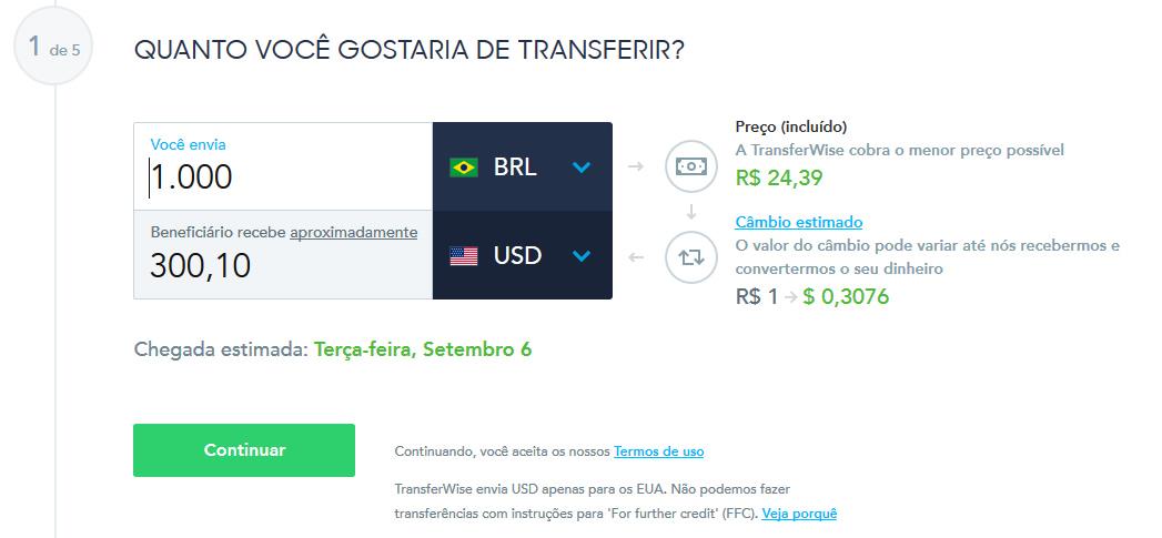 Calculadora do TransferWise