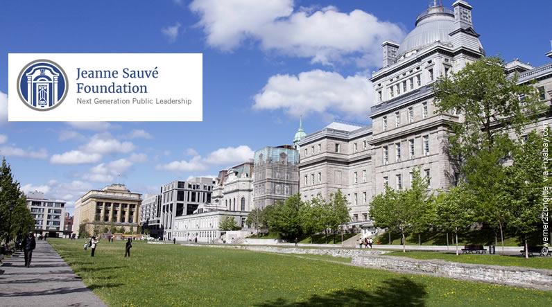 Bolsas de estudo no Canadá (Fundação Jeanne Sauvé)