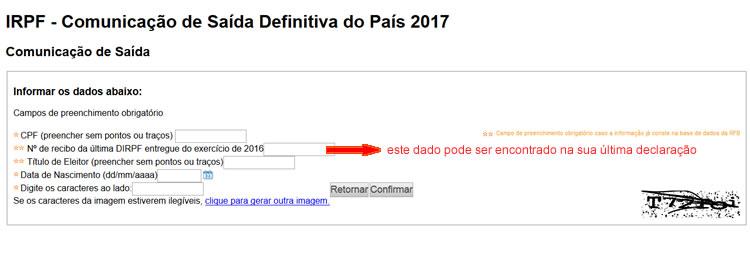 Comunicação de Saída Definitiva 2017