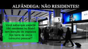 Alfândega Brasileira (Regime de Admissão Temporária para não residentes)