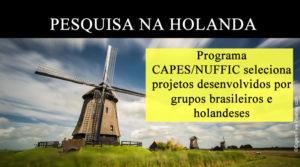 Bolsas de Estudos na Holanda (Programa CAPES/NUFFIC)