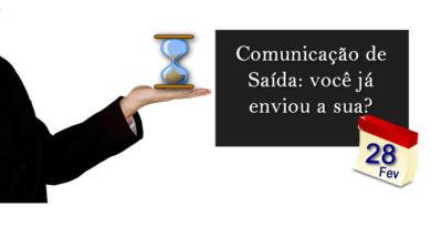 Comunicação de Saída Definitiva do País 2017