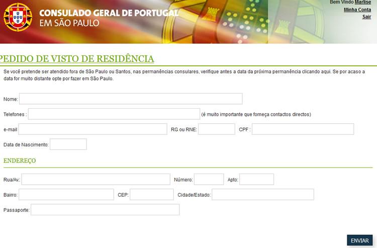 Visto para estudar em Portugal: formulário de Requerimento de Visto
